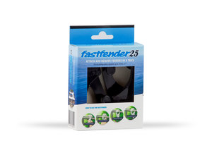 Fastfender 25 Black - packing unit for boat fender hangers